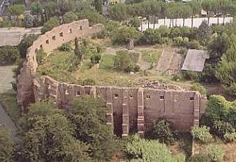 Veduta aerea della basilica costantiniana